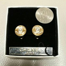 Authentic CHANEL Vintage Gold Logo Coco Clip Earrings HCE163 - $406.30