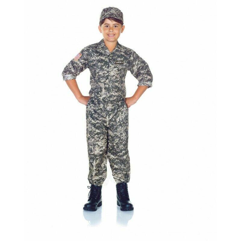 Underwraps Camouflage Armée Soldat Uniforme Enfants Déguisement Halloween 26287