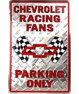 Chevrolet Racing Fans Parking Diamond Plate Aluminum Wall/Man-cave Sign ... - $19.15