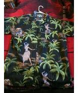 On Shore XL shirt, Hawaiian motif, 100% polyester, India, good condition - $25.00