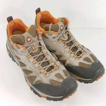 Merrell Mesa Ventilator II Men's Sz 13 M Hiking Boots Green Beige Shoe - $54.87