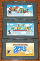 Super Mario Advance 1 2 4 Trilogie Nintendo Game Boy Advance Lot Of 3 Ga... - $44.47
