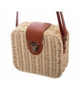 Women's Handbags Mini Women Bags Leather Straw Ladies Bag Shoulder Bags ... - €16,77 EUR