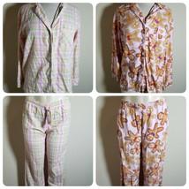 Victoria's Secret Women's Pajamas Pink Gingerbread Man Plaid 2 Pairs Small & XS - $46.86