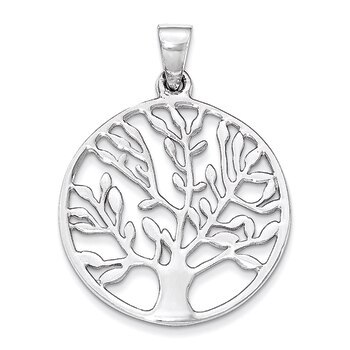 Primary image for Lex & Lu Sterling Silver Polished Circle w/Tree Pendant