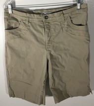 Women's Beige Shorts Size 14 Medium Lee Classic Fit At The Waist - $7.91