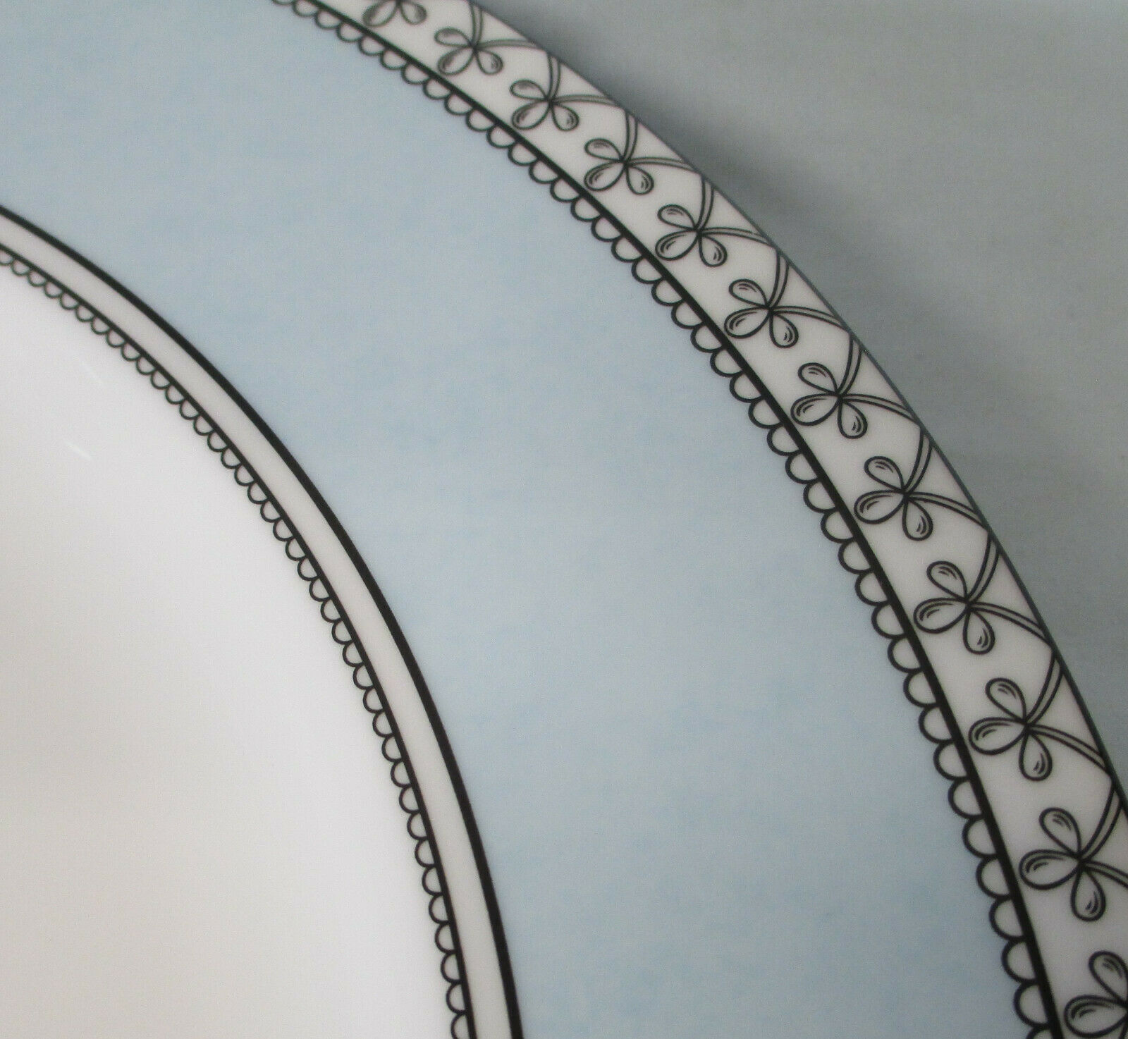 Charter Club Tuilleries Blue Round Buffet or Chop Plate Set of 3