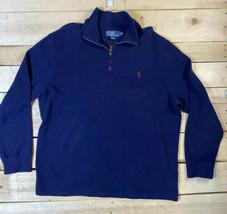 Polo Ralph Lauren Quarter 1/4 Zip Sweater Men's XL Blue NICE! - $19.31