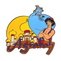 Aladdin Disney Lapel Pin: Agrabah Genie + Aladdin  - $34.90