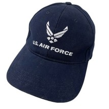 US Air Force Black White Ball Cap Hat Fitted One Size Baseball Adult - $13.85