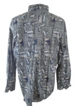 MICHAEL AUSTIN Men shirt cotton long sleeve pit to pit 26 XL duck hunter hunting - $15.14