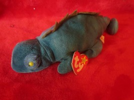 Ty Beanie Baby Iggy The Iguana Gasport Tag Error EUC - $6.92