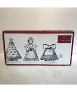 Mikasa Celebrations Three Piece Crystal Set Angel,Bell,Tree NIB - $10.85