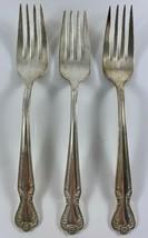 Vintage Rogers & Bro IS DAYBREAK Silverplate Flatware 3 Salad Forks - $9.89
