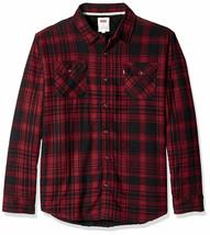 Levi's Men's Thorton Sherpa Lined Flannel Plaid Long Sleeve Button Shirt Jacket image 2