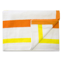 Jumbo Calypso Stripe Cabana Beach Pool Cotton Towel 30 x 60 Mango/Lemon ... - $49.49