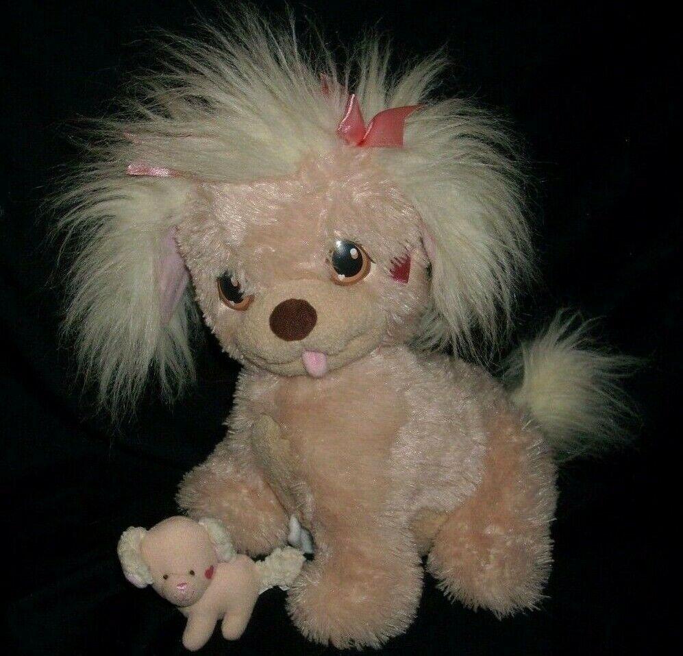2005 PLAYSKOOL HASBRO CREME PUPPY SURPRISE STUFFED ANIMAL PLUSH TOY MOM W/ BABY - $13.10