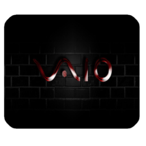 Mouse Pad Sony Vaio Logo Beautiful Elegant Dark Red Design In Music Animation - $9.00