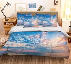 3D Clouds View Sky 026 Bed Pillowcases Quilt Duvet Single Queen King US Summer - $102.84+
