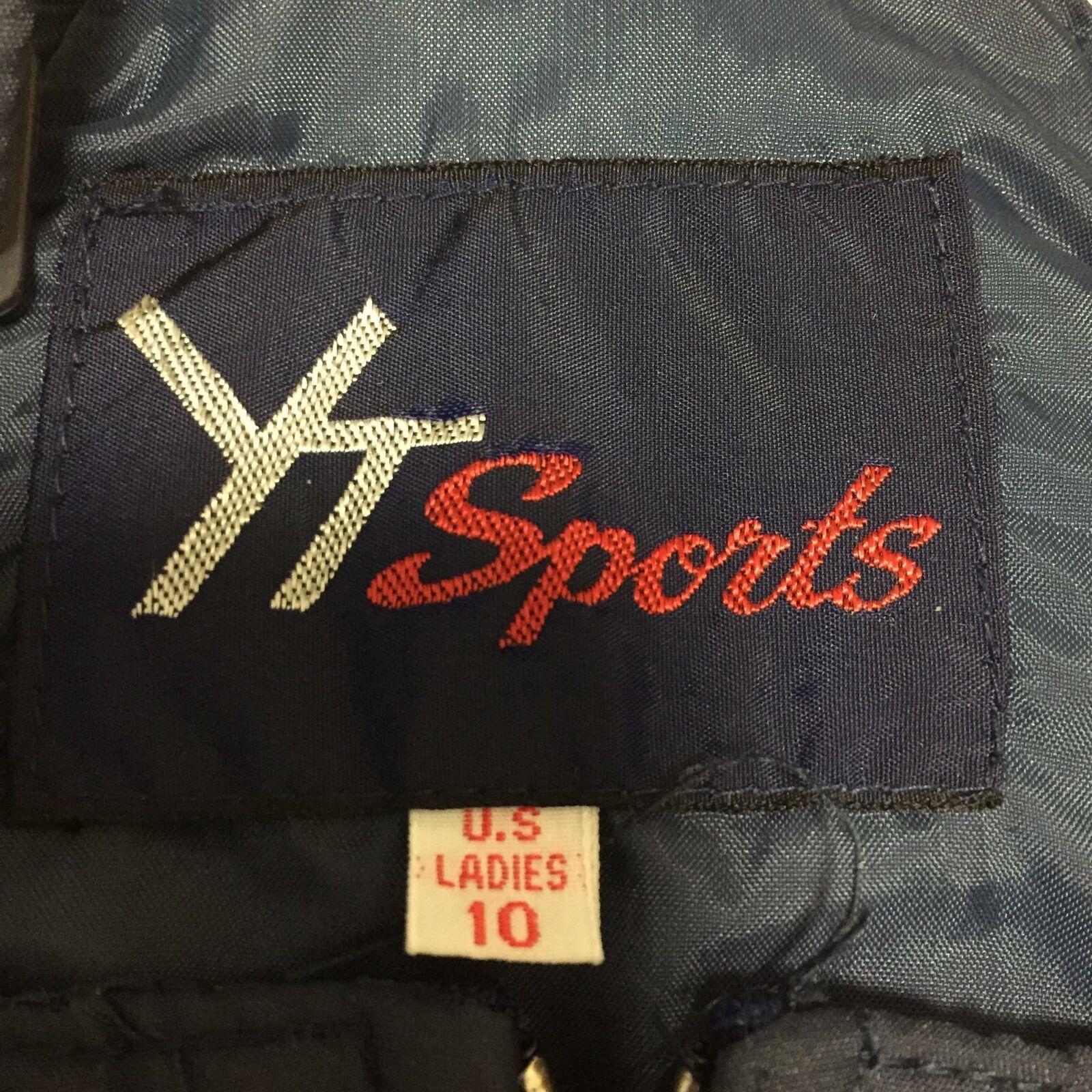 YT Sports Ladies 10 Ski Snow Pants Blue Bib Winter Outdoor Sports