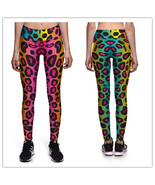 Womens Colorful Leopard Spots Running Pants Tights Sexy Yoga Leggings fo... - $23.49