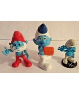 Peyo Smurf Action Figures Toys (2011-2013)Lot of 3 Papa Smurf-Party Planner - $12.19