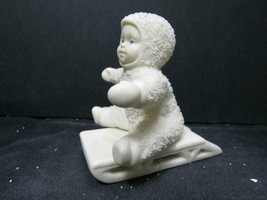 """GIVE ME A PUSH 7955-3"" Dept 56 Snowbabies CHRISTMAS FIGURINE - $6.64"