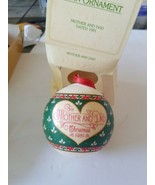 Vtg 1981 Hallmark Christmas Tree Ornament Mother & Dad Ball Read Descrip... - $8.90