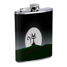 Moon Cat Em1 Flask 8oz Stainless Steel Hip Drinking Whiskey - $13.81