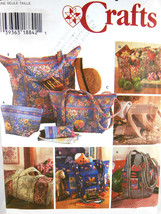 Simplicity Crafts Pattern 7098 Quilted Bags & Eyeglasses case Uncut Fact... - $6.92