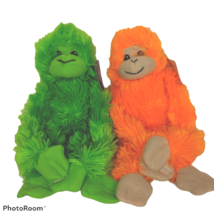 NWT Goffa International Green Orange Monkey Plush Stuffed Animal Lot of ... - $19.80