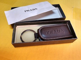 Authentic Prada Brown Leather Key Holder-NEW (with Box) Free Shipping wi... - $139.68