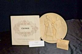 """""""Carmen"""" Di Volteradici Commemorative Plate by Gene Ruggeri AA20-CP2330 Vintage image 2"""