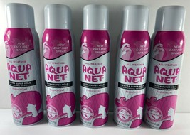 5 Pack AQUA NET Extra Super Hold Fresh Scent All Weather Hair Spray 11 o... - $44.54