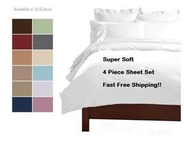 4 PIECE 2100 COUNT DEEP POCKET LUXURY SERIES BED SUPER SOFT SHEET SET MO... - $24.95