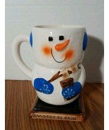 "Snowman Marshmallow Smores Ceramic Hot Cocoa Mug Smores 5 Cents Each 5.5"" H - $9.89"