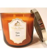 Bath & Body Works White Barn CIDER LANE Scented 3 WICK Candle 14.5 oz NEW - $20.79