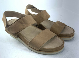 Soul Naturalizer Kaila Sling-back Open Toe Tan Suede Women's Sandals SZ 10 E5 - $20.20