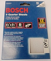 "Bosch SS4W080 5 Piece 80 Grit 4-1/2"" x 5-1/2"" General Purpose Sanding Sh... - $5.94"