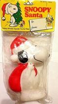 Vintage Collectable Snoopy Santa Christmas Peanuts Snoopy Toy Dog MIP NO... - $7.62