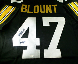 MEL BLOUNT / HALL OF FAME / AUTOGRAPHED PITTSBURGH STEELERS CUSTOM JERSEY / TSE