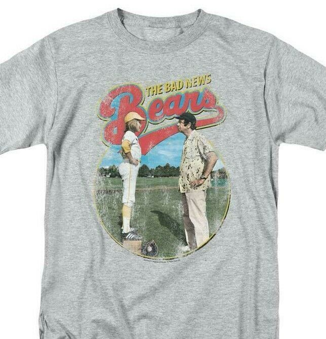 Bad News Bears T-shirt Movie Poster 70s retro baseball cotton blend tee  PAR132