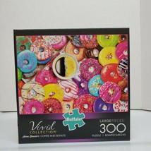 "Buffalo Games 300 LG PCs Vivid Aimee Stewart ""Coffee And Donuts"" Jigsaw ... - $14.99"