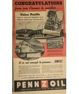 Union Pacific Pennz Oil April 1939 Newspaper Ad - $12.89