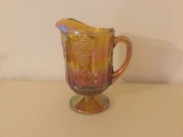 Vintage Indiana Carnival Glass Amber Pitcher - $7.02