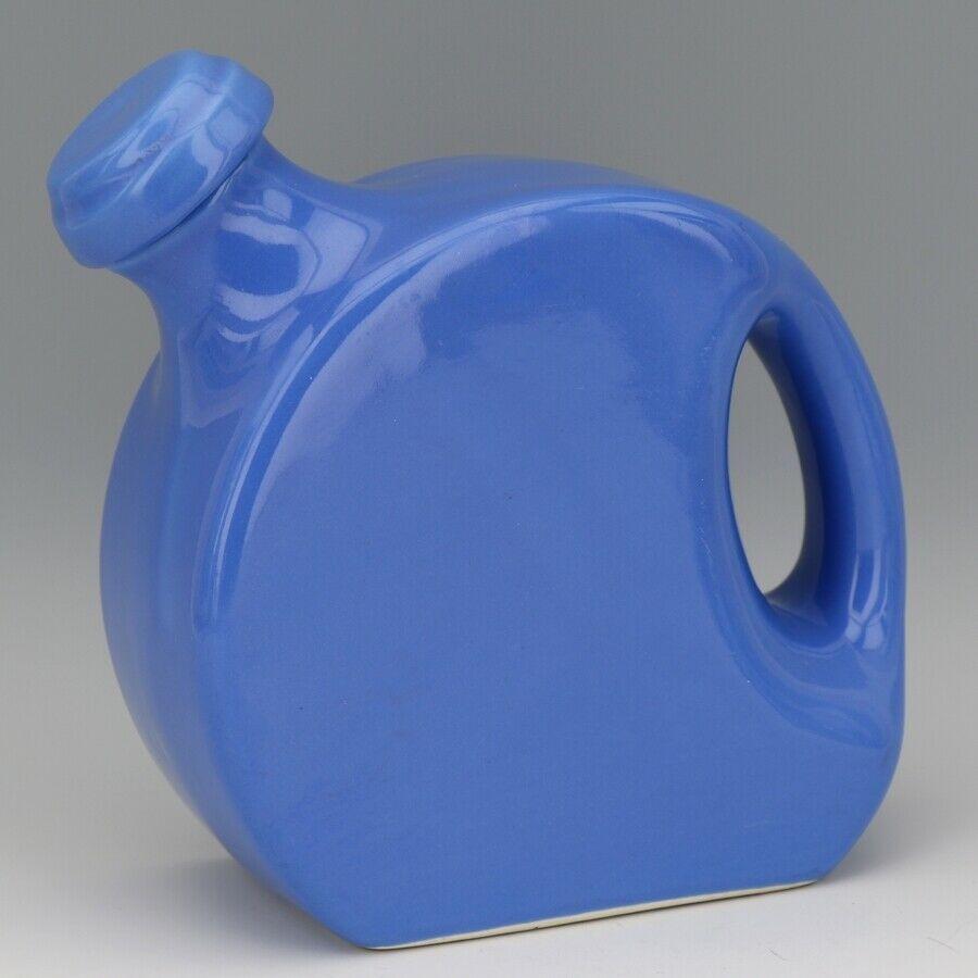 Vintage Cambridge Pottery Blue Refridgerator Water Bottle Jug with Stopper