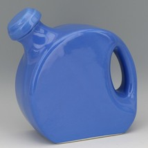 Vintage Cambridge Pottery Blue Refridgerator Water Bottle Jug with Stopper image 1