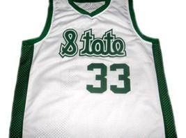 Magic Johnson #33 Michigan State Custom Basketball Jersey White Any Size image 4