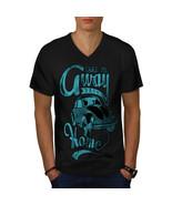 Take Away Home Holiday Shirt Travel Bug Men V-Neck T-shirt - $12.99+