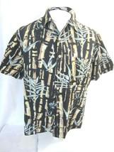 JOE MARLIN Men Hawaiian ALOHA shirt pit to pit 25 L camp luau floral tro... - $14.68